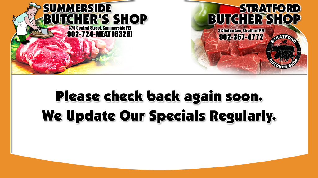 Please check back again soon. We update our specials regularly.